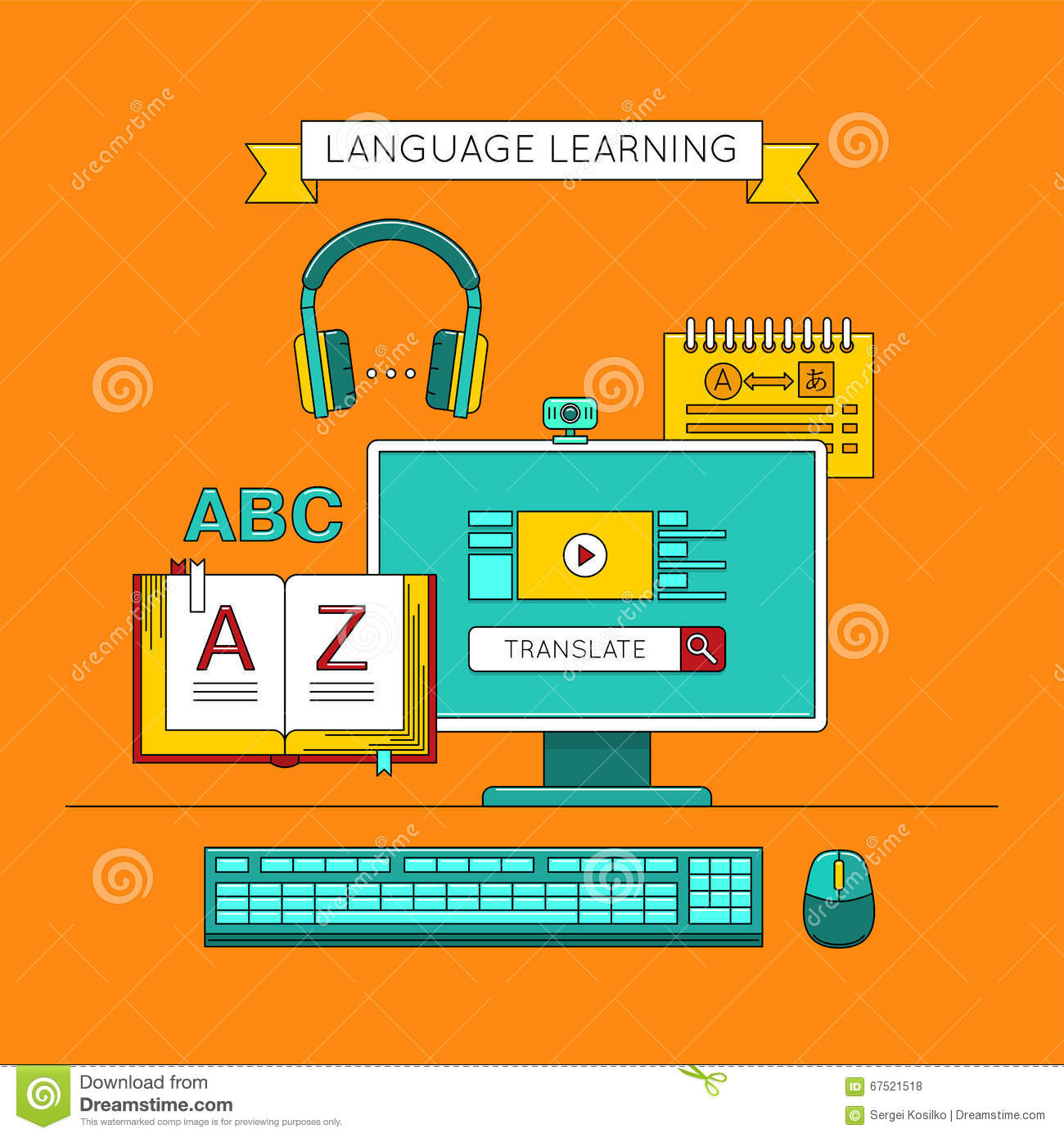 Is there a free online service that teaches a foreign language?
