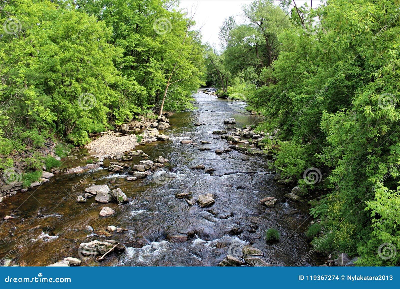 Forellen-Fluss-Strom, Franklin County, Malone, New York, Vereinigte Staaten