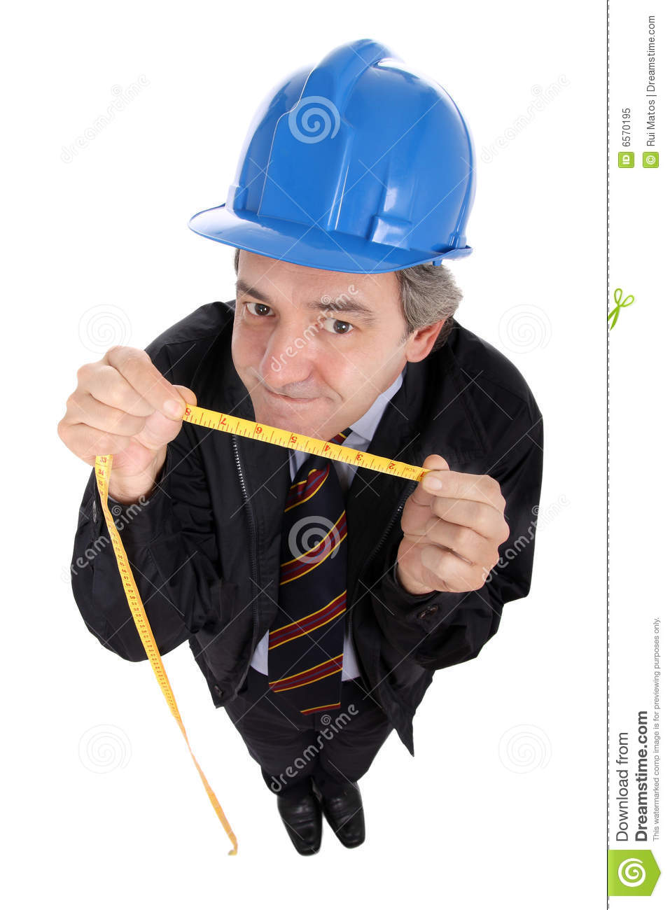 Foreman with tape measure