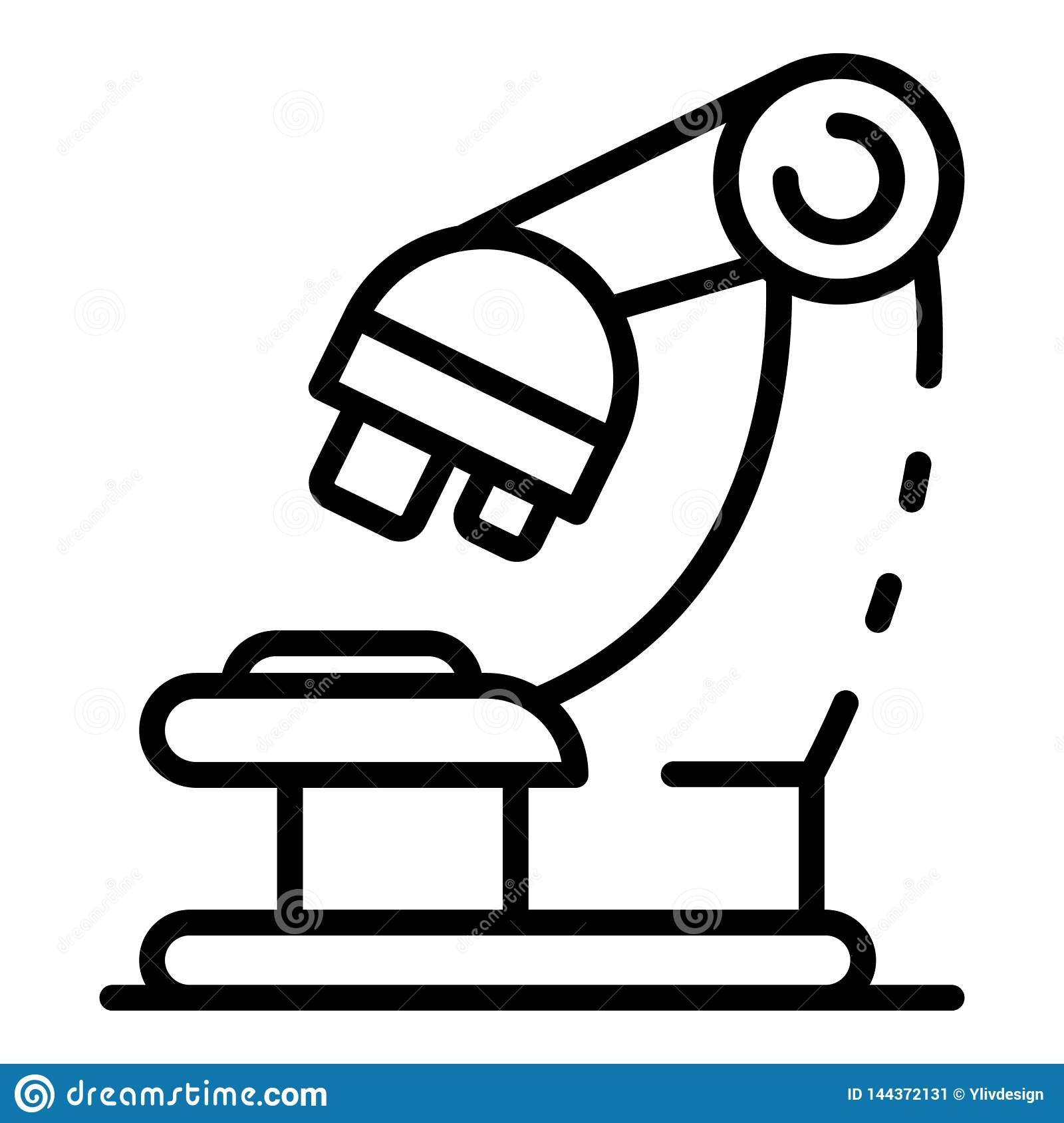 Forensic Microscope Icon Outline Style Stock Vector Illustration Of Black Biology 144372131