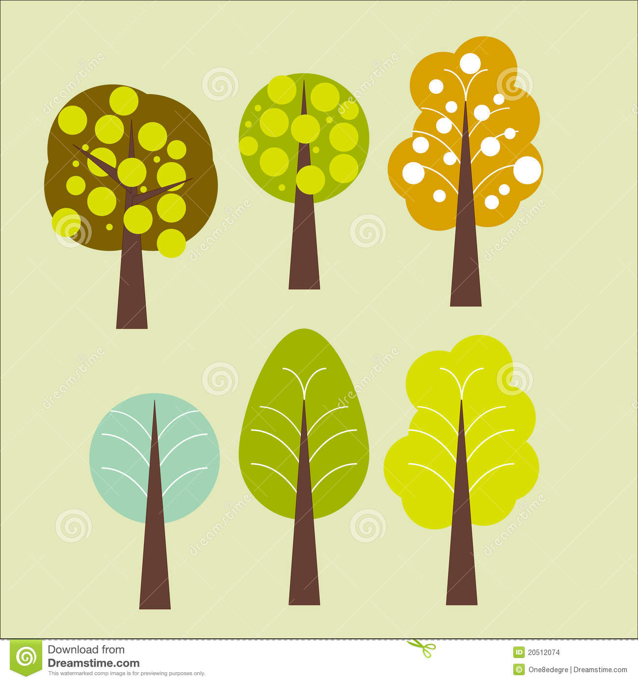 Forest Abstract Trees Stock Images - Image: 20512074