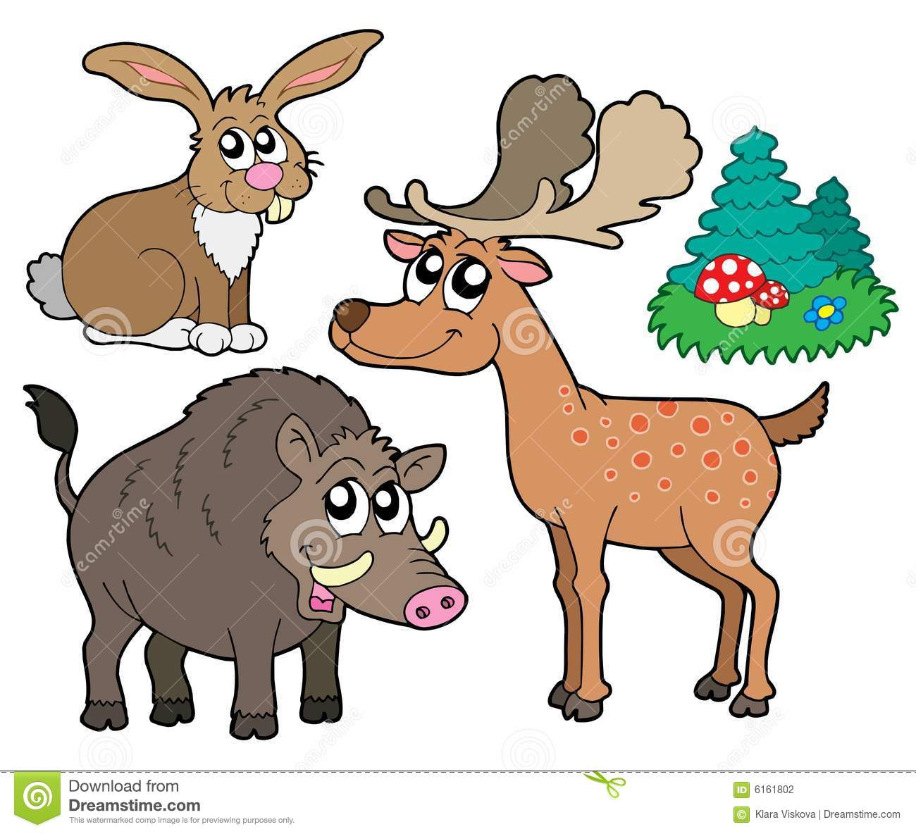 Forest Animals Collection 1 Stock Photography - Image: 6161802