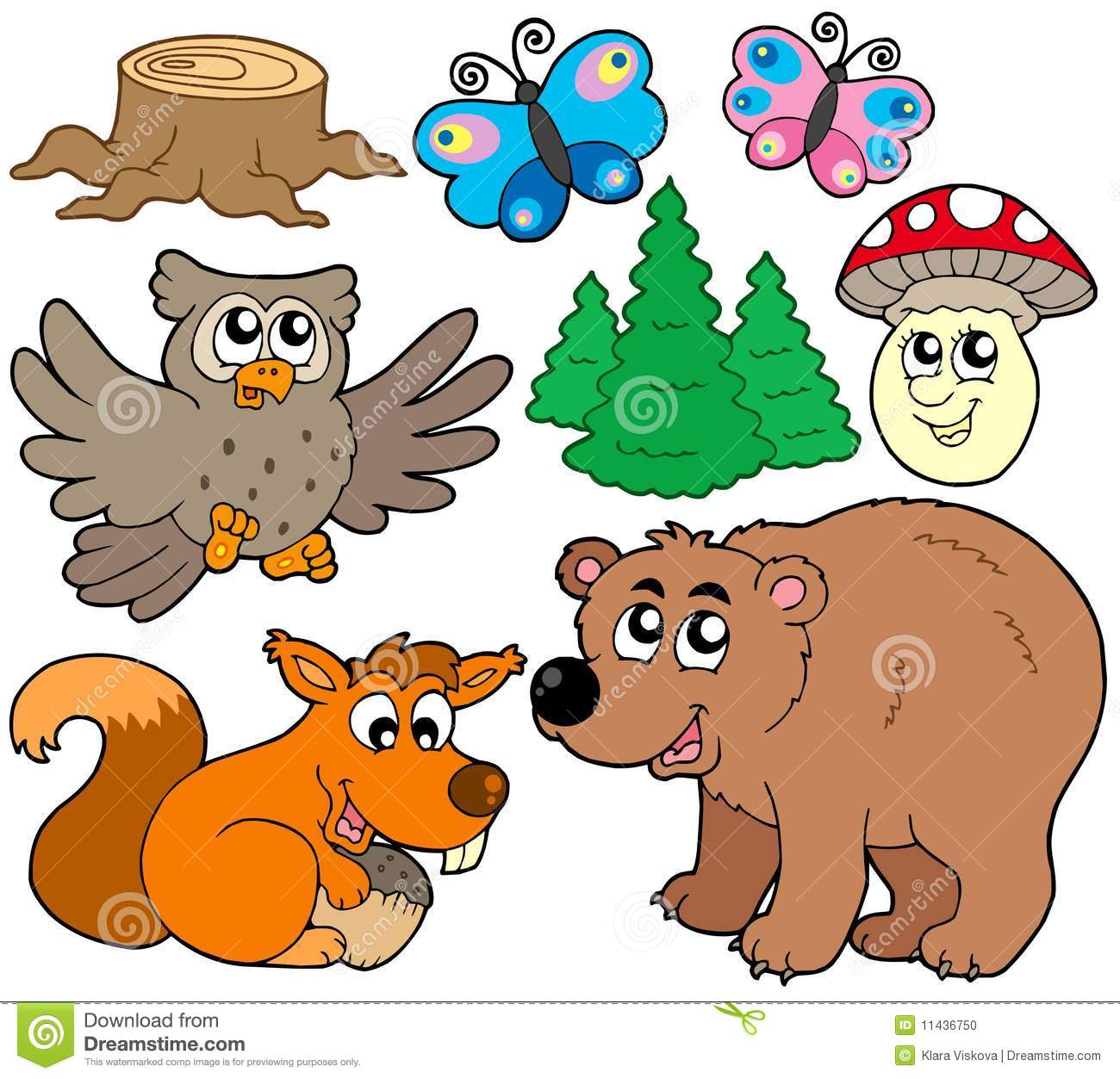 Forest Animals Collection 3 Stock Vector Image 11436750