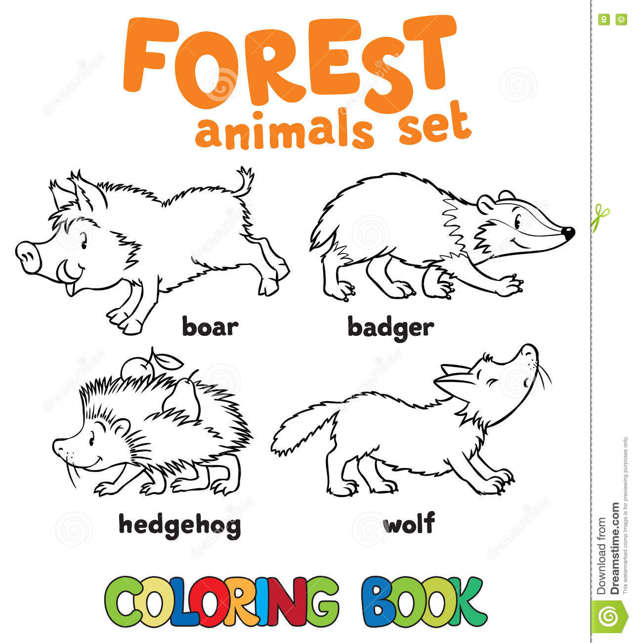 forest animals coloring book - Etame.mibawa.co