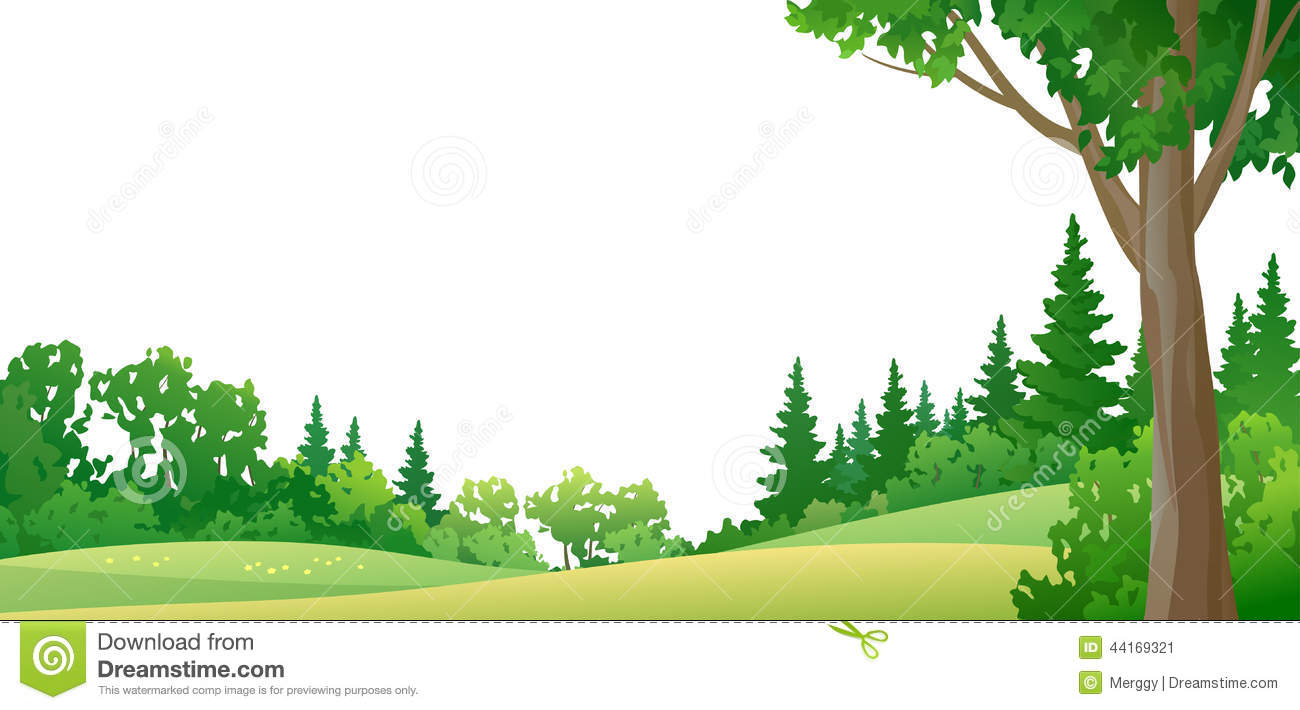 Forest Border Stock Vector - Image: 44169321