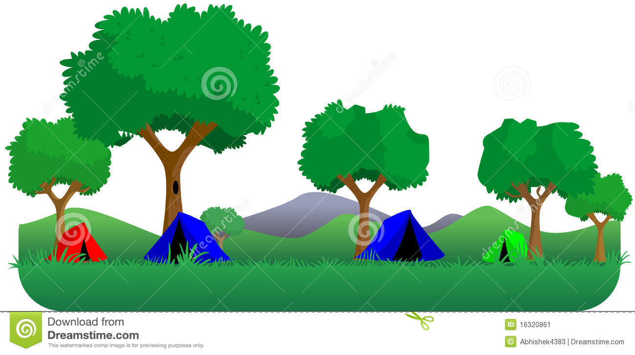 Forest Camping Stock Illustration Of Tent