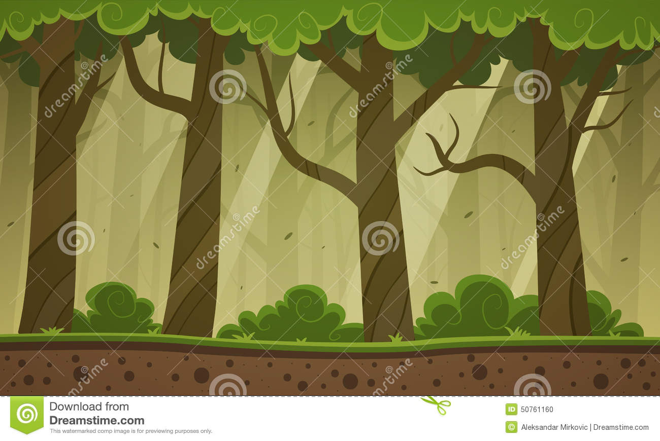 Forest Cartoon Background Stock Vector - Image: 50761160