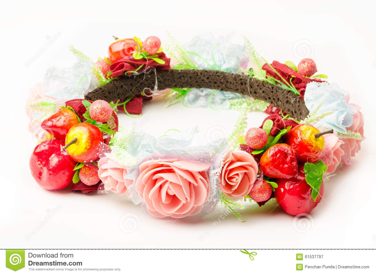 Forest coronal or colorful fake flower crown stock image image of forest coronal or colorful fake flower crown isolated on white background izmirmasajfo