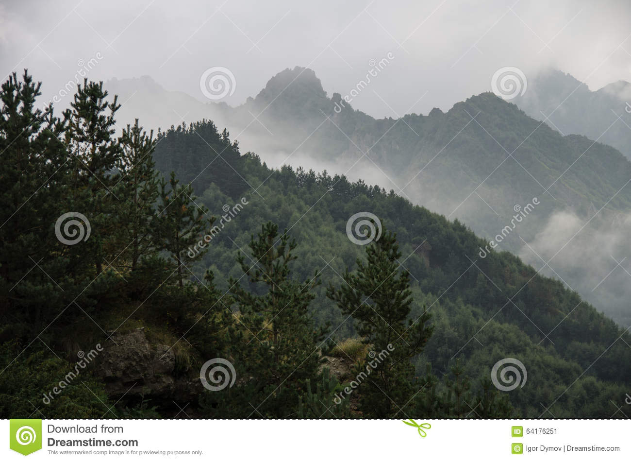 mountains with clouds fog - photo #29