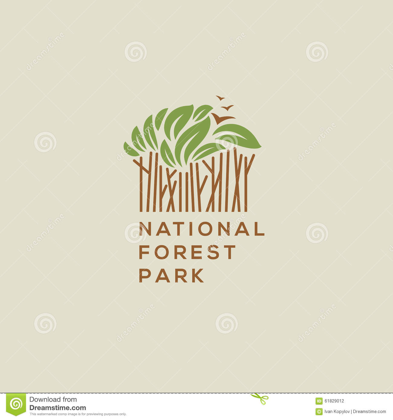 Forest National Park Logo Stock Vector Illustration Of Nature
