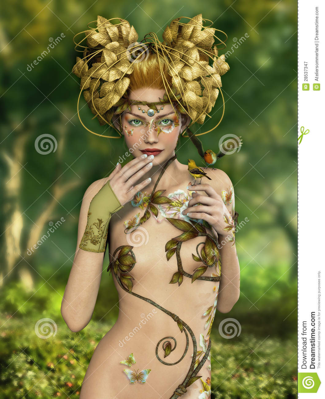 Forest Nymph Royalty Free Stock Photography - Image: 28537347
