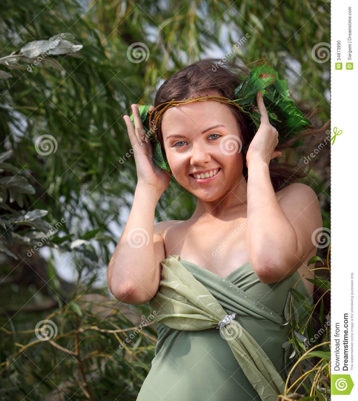forest nymph stock photo image of non hair glamour