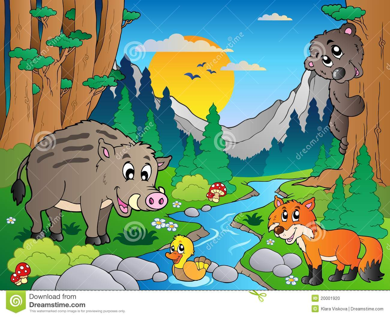 Cute River Woodland Animals Clipart Instant Download File | Etsy | Clip art,  Animal clipart, Digital graphics