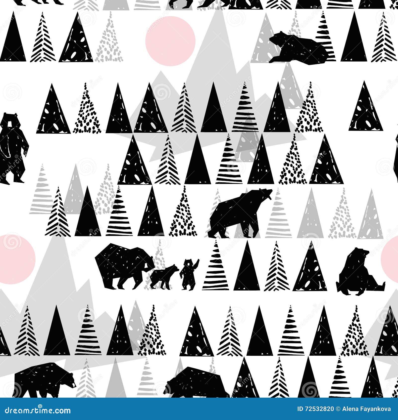 Grizzly Bear In The Forest Cartoon Vector   CartoonDealer
