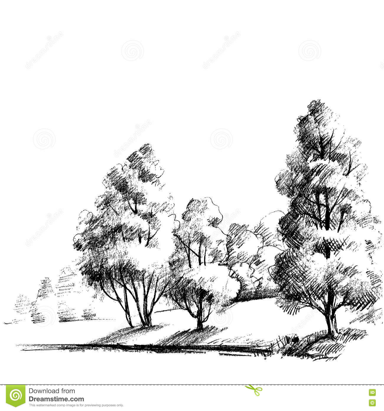 Forest Sketch Stock Vector - Image: 79259367