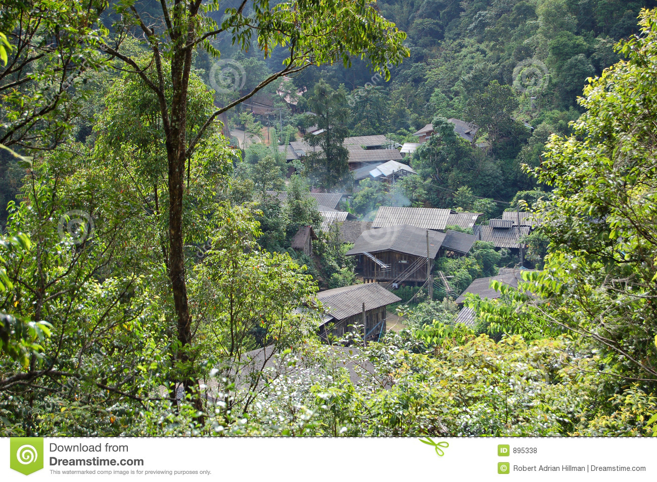 Forest Village Royalty Free Stock Photos - Image: 895338