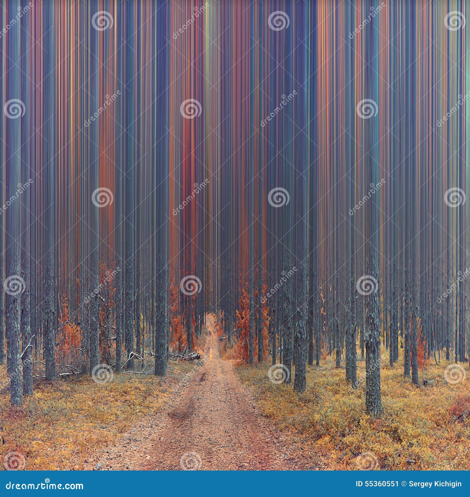 Foresta astratta di autunno