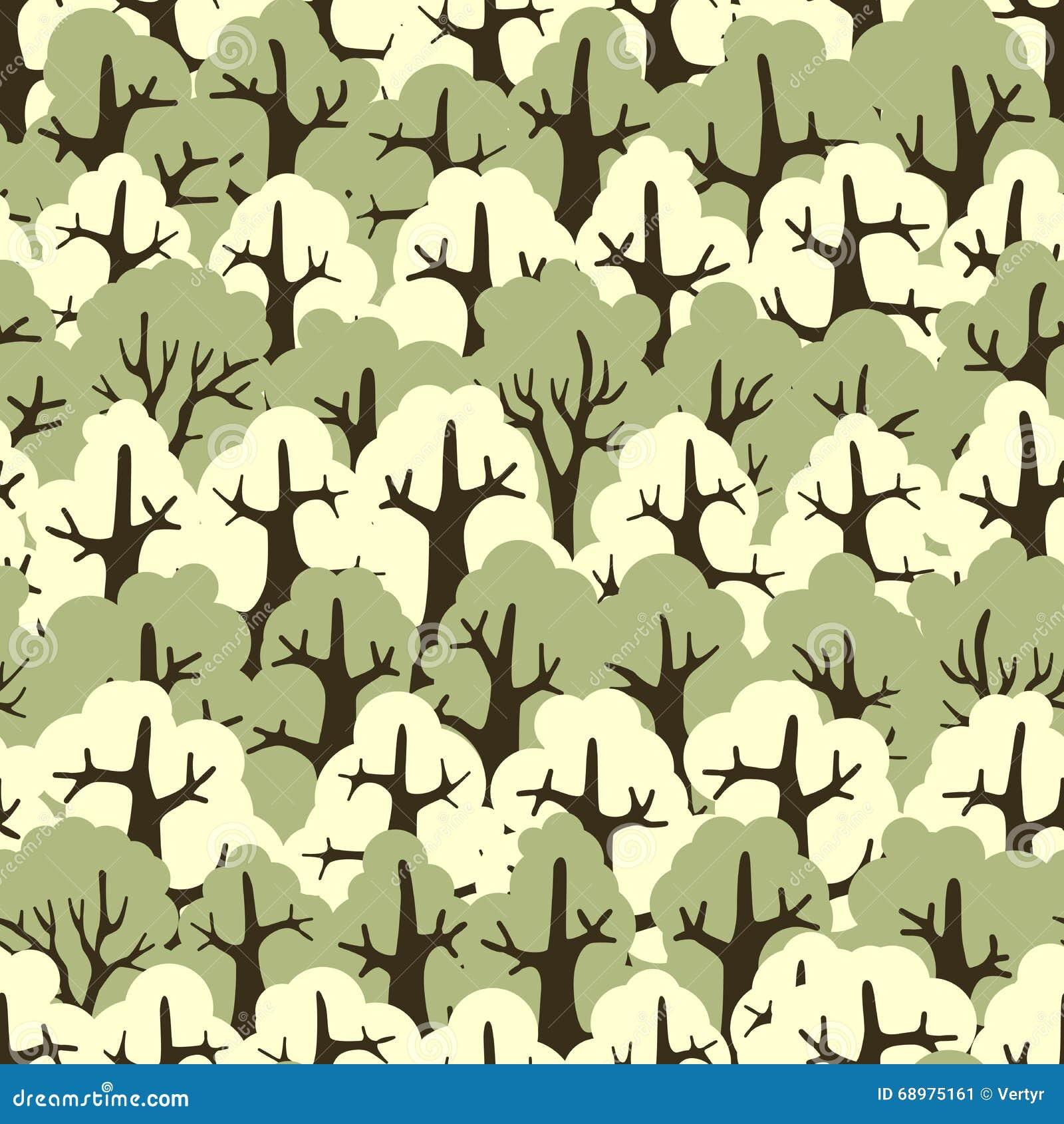 Foresta senza cuciture della carta da parati delle for Carta da parati alberi stilizzati