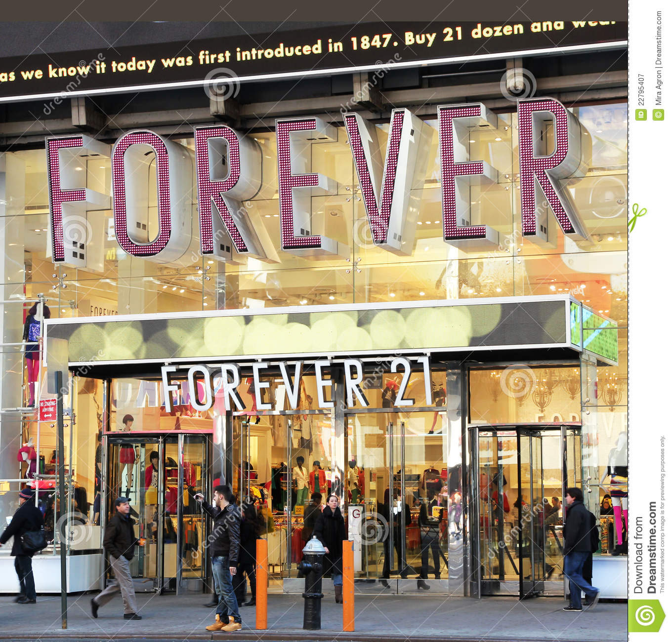 forever 21 times square retail store nyc editorial stock photo