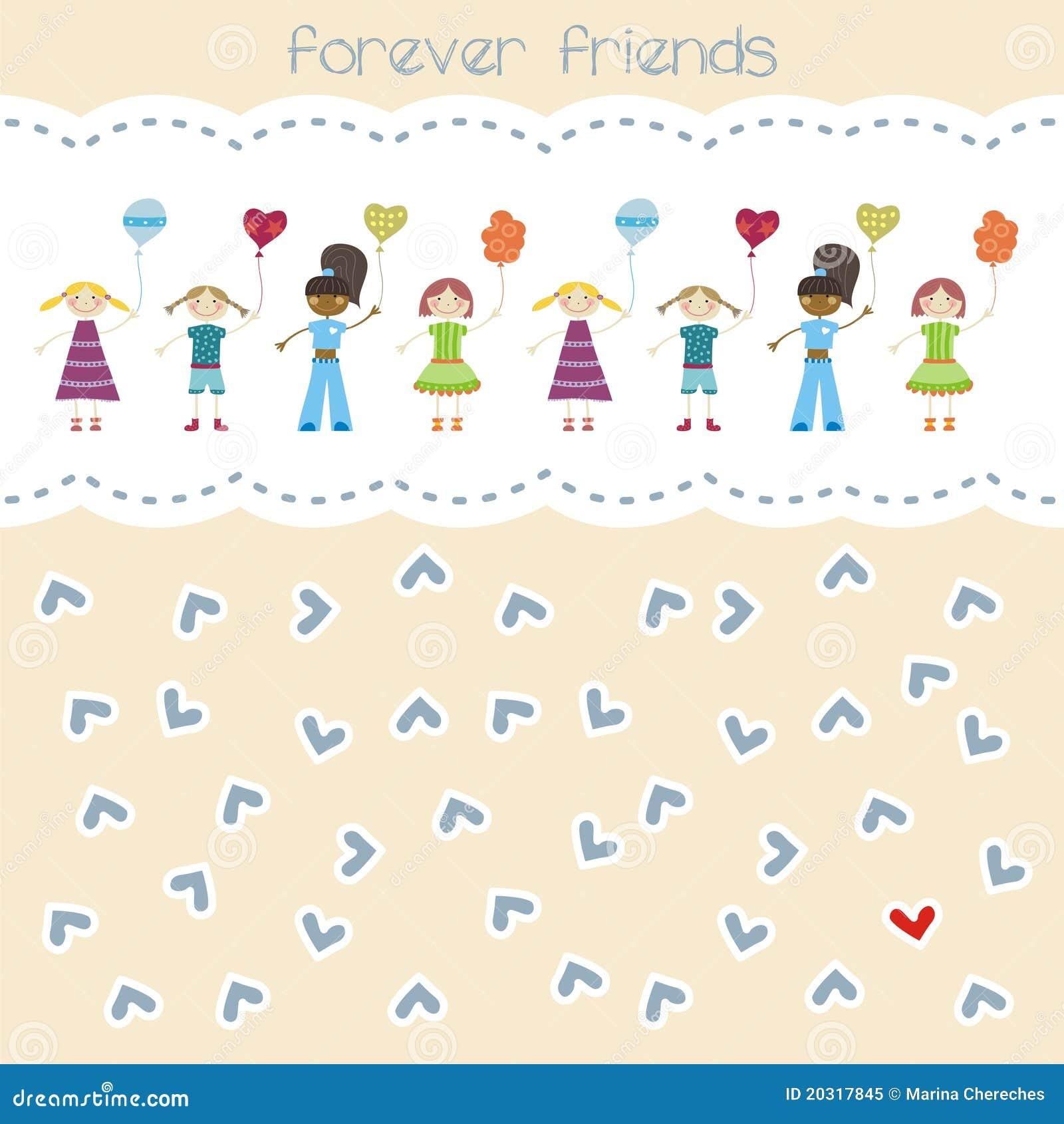 Forever Friends Stock Vector Illustration Of Birth Dress 20317845