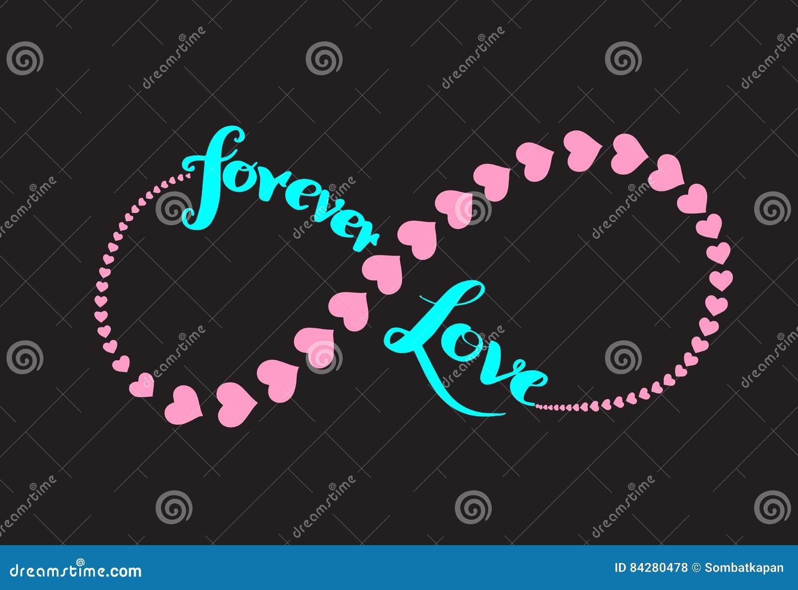 Forever Love Infinity Symbol Stock Vector Illustration Of