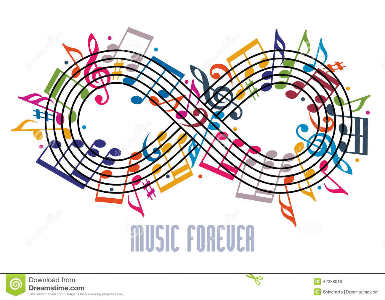 Forever music concept infinity symbol made with musical notes a forever music concept infinity symbol made with musical notes a biocorpaavc