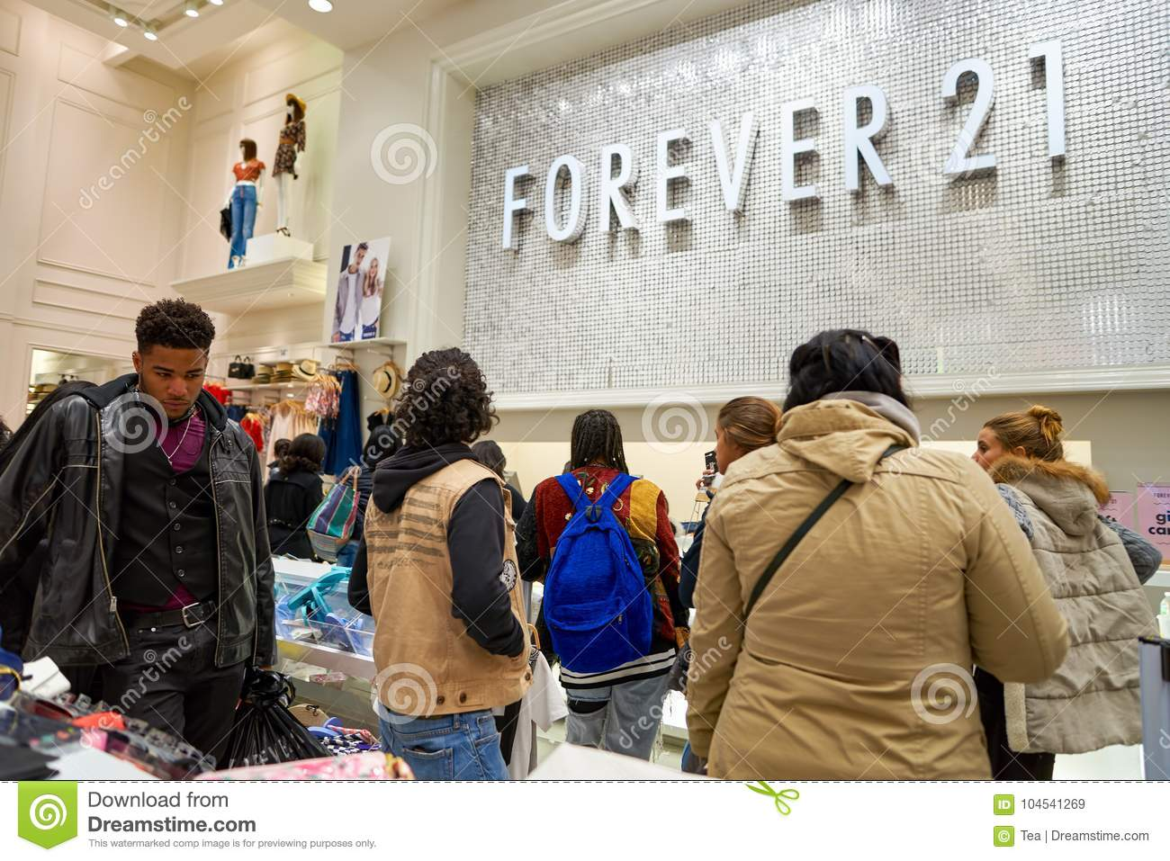 forever 21 store editorial stock image image of city 104541269