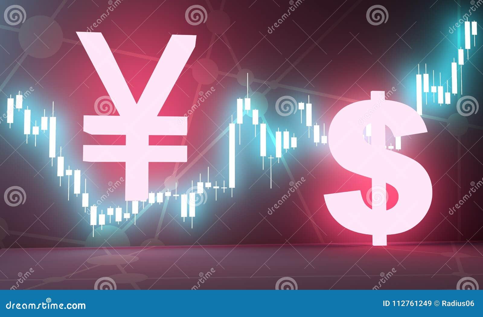 Candlestick Stock Exchange Background Stock Illustration