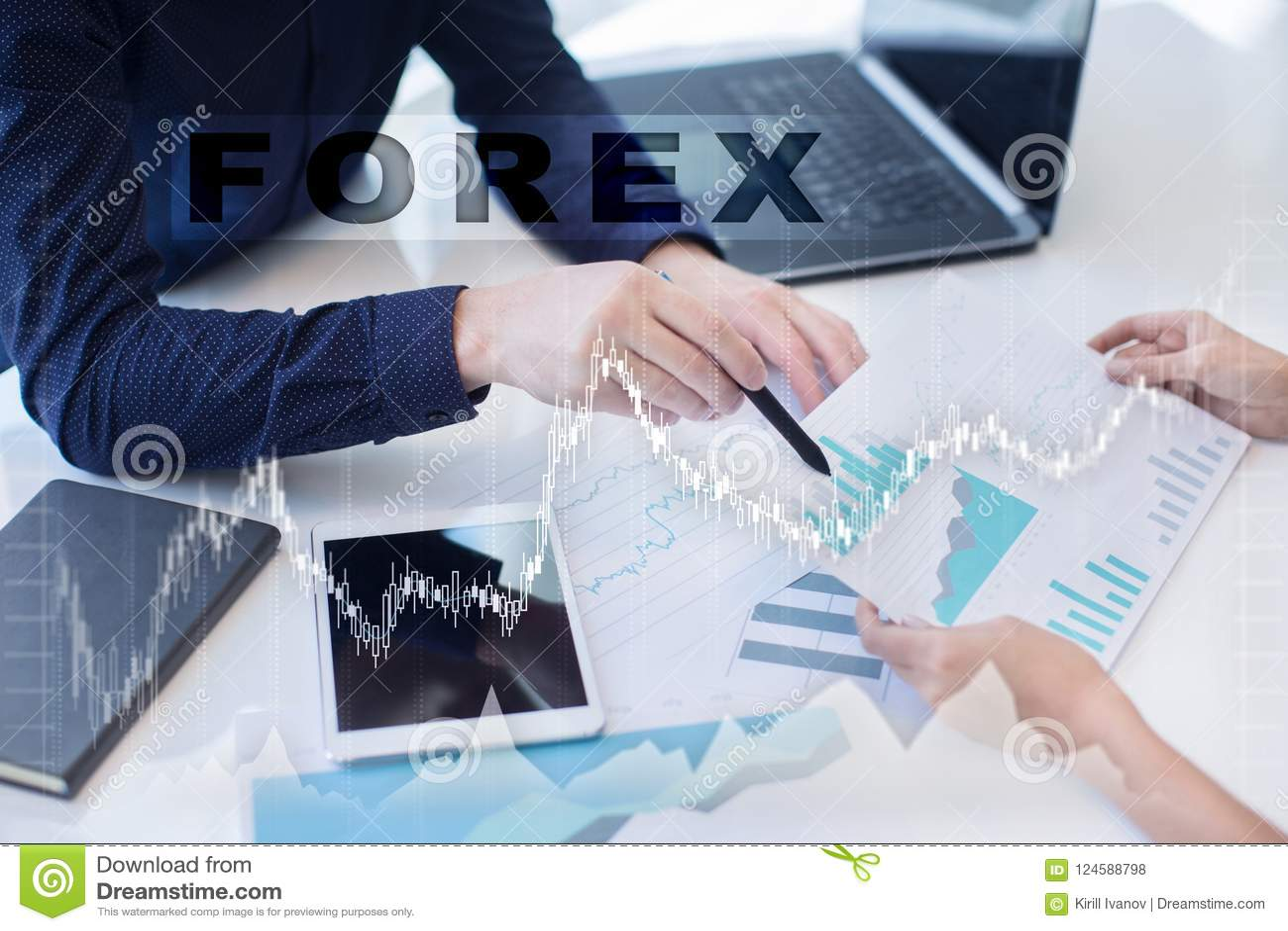 Forex die, Online investering handel drijven Zaken, Internet en technologieconcept