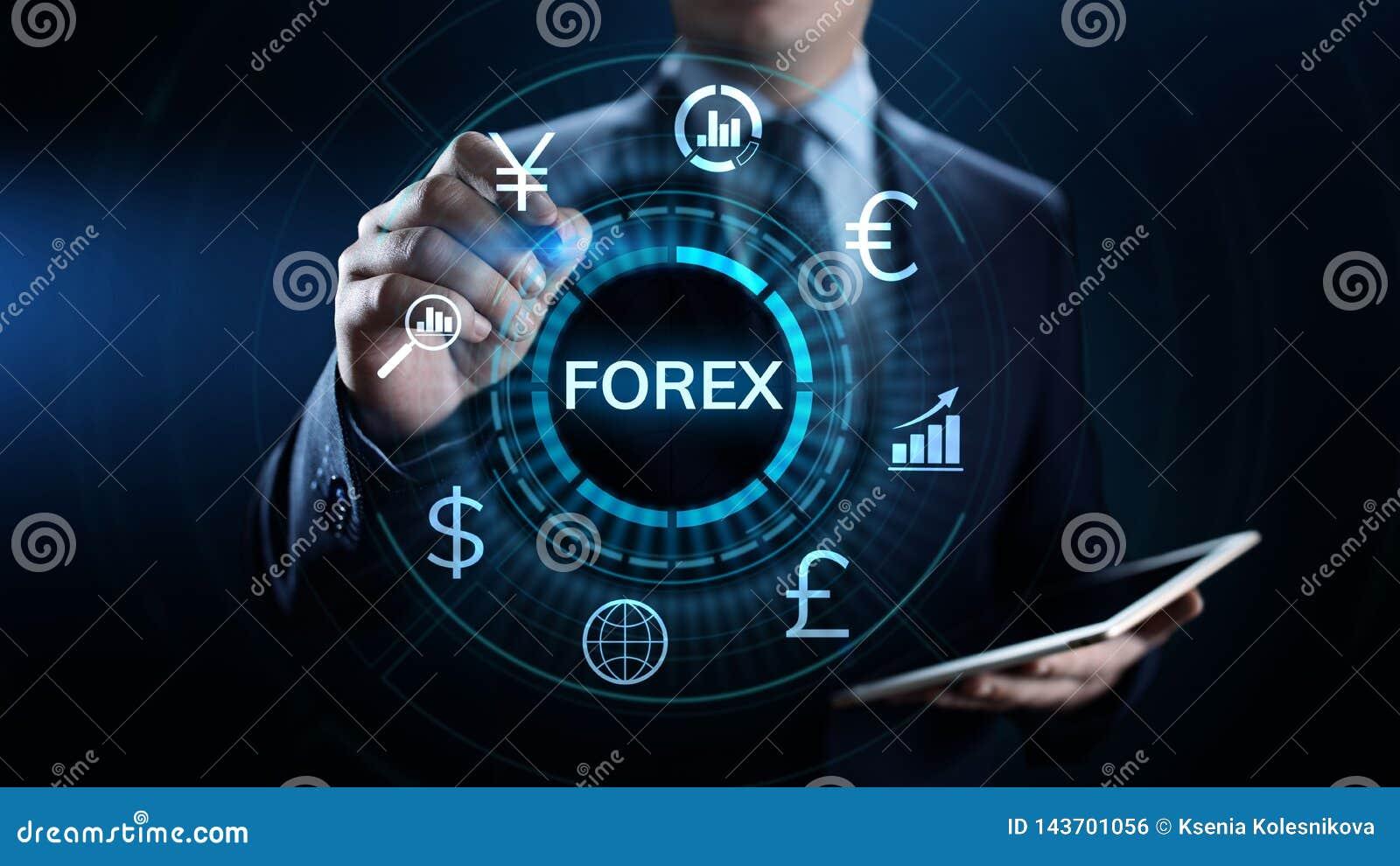 Forex van de bedrijfs wisselkoersinternet van de handelmunt de investerings concept