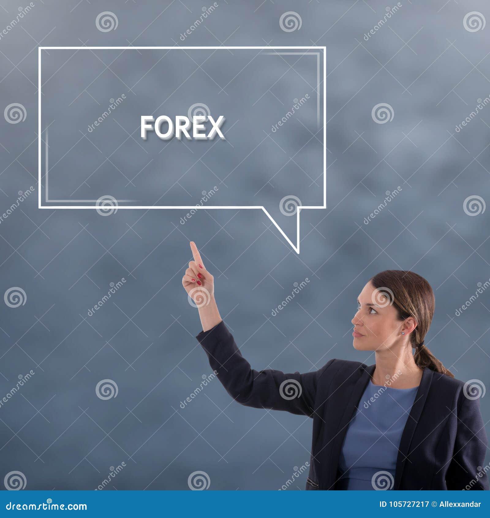 FOREXaffärsidé Begrepp för diagram för affärskvinna