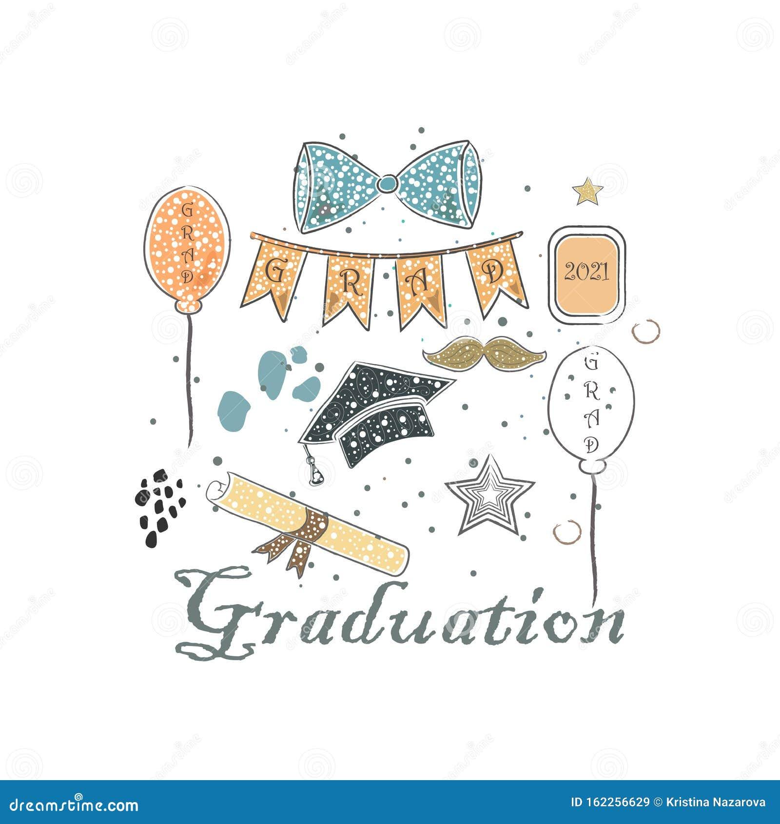 Forfait De Diplomes Style Scandinave Dessin A La Main Bouw Cravate Bouchon Illustration Stock Illustration Du Dessin Scandinave 162256629