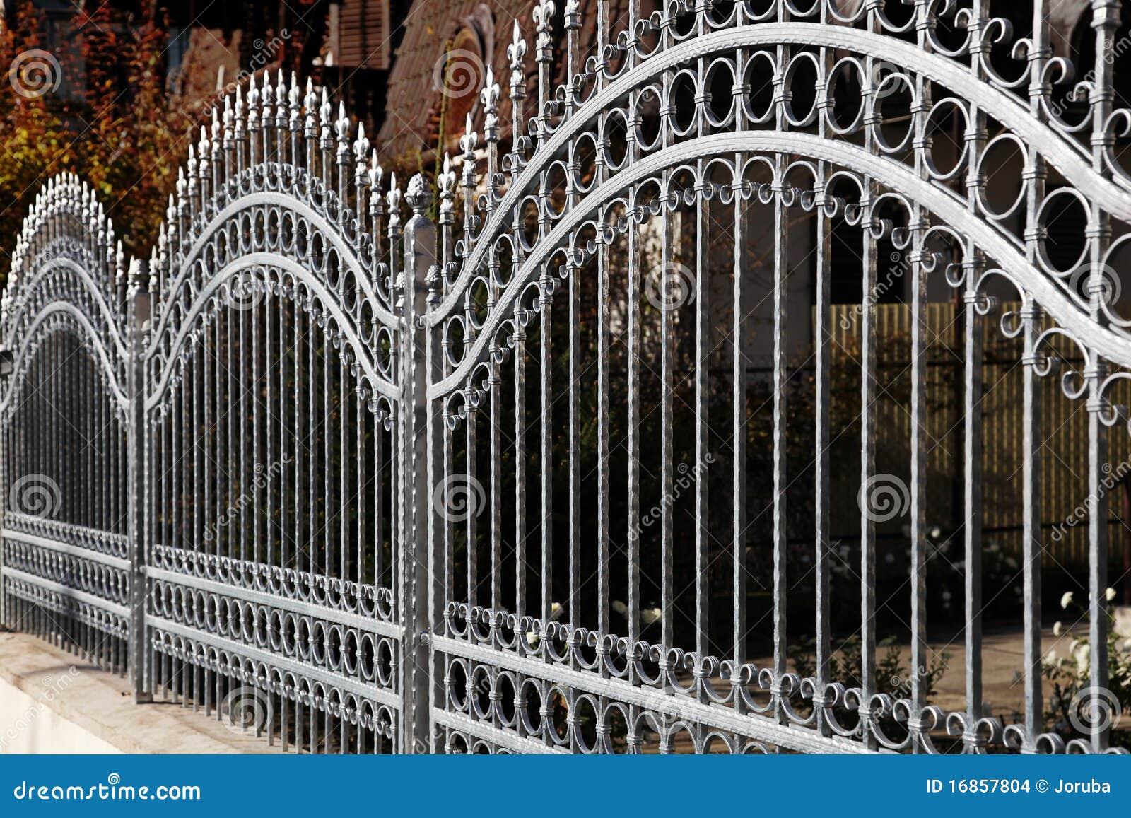Forged iron fence stock images   image: 16857804
