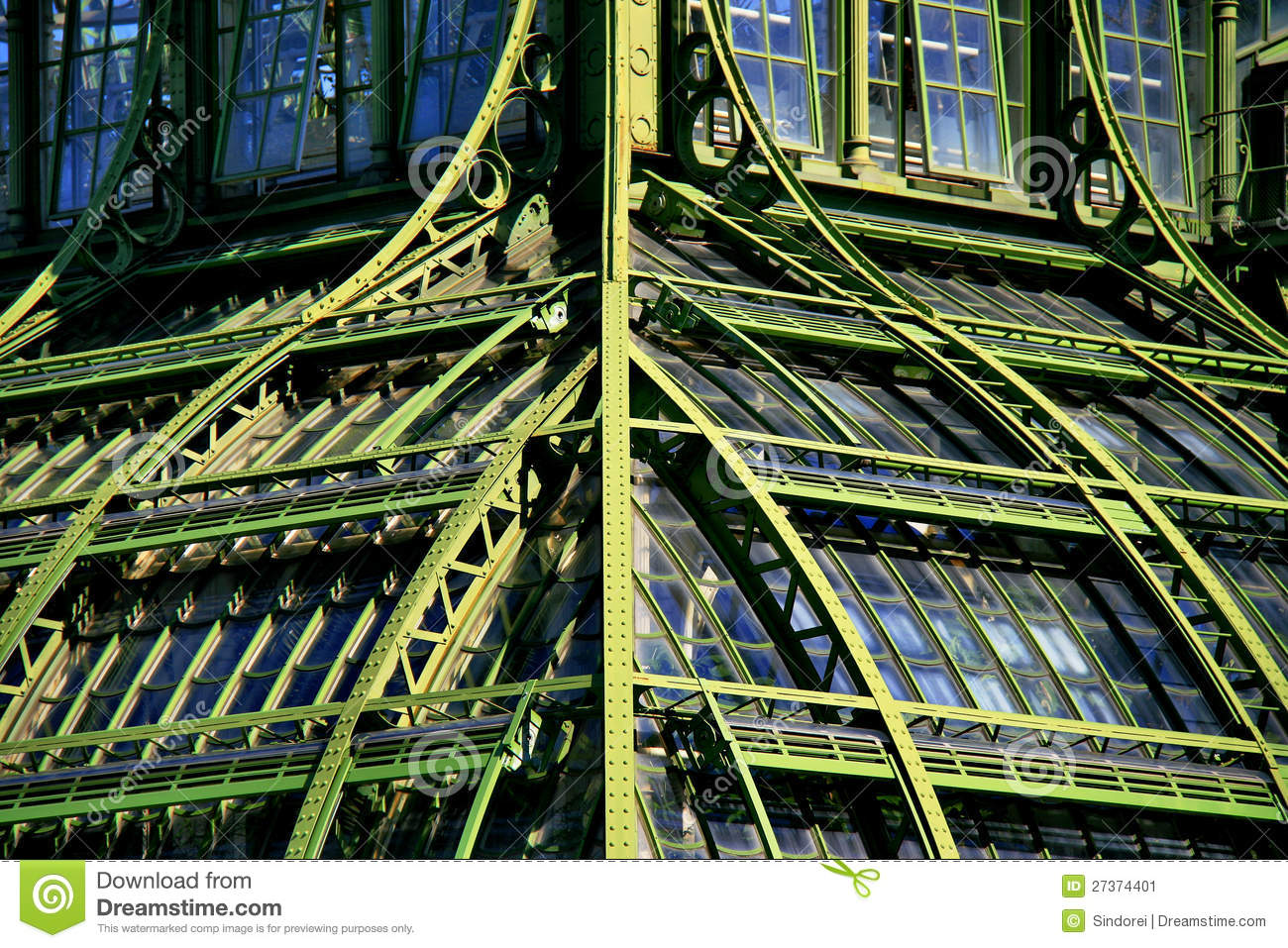 Forged Steel And Glass Architecture Stock Image Image