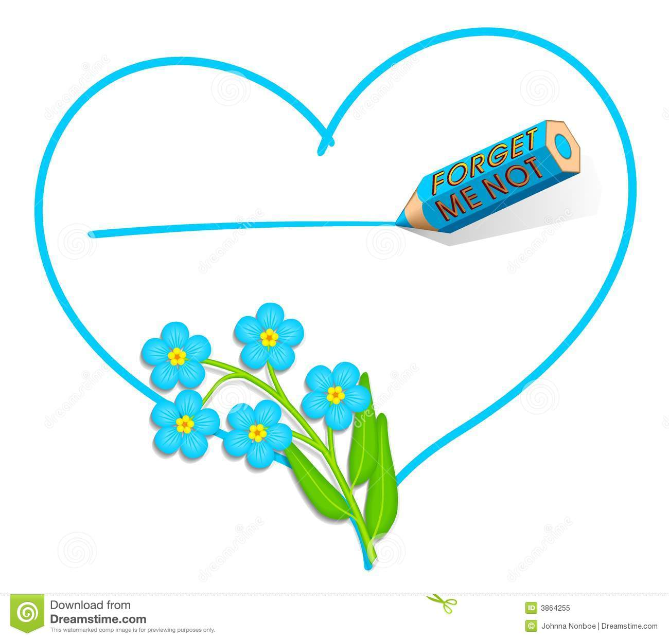 Forget-me-not  Love Note