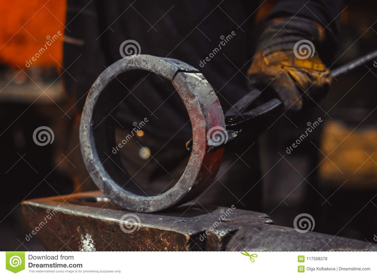 Hot item at the forge stock photo  Image of heavy, factory