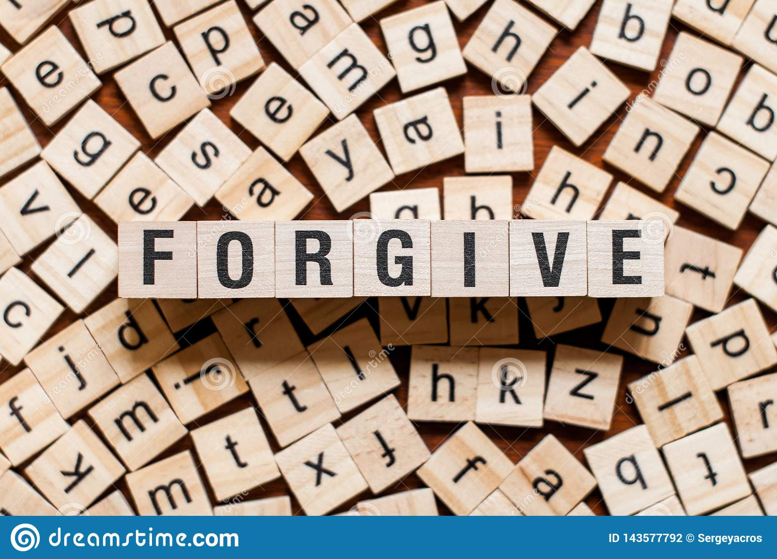 Forgive word concept