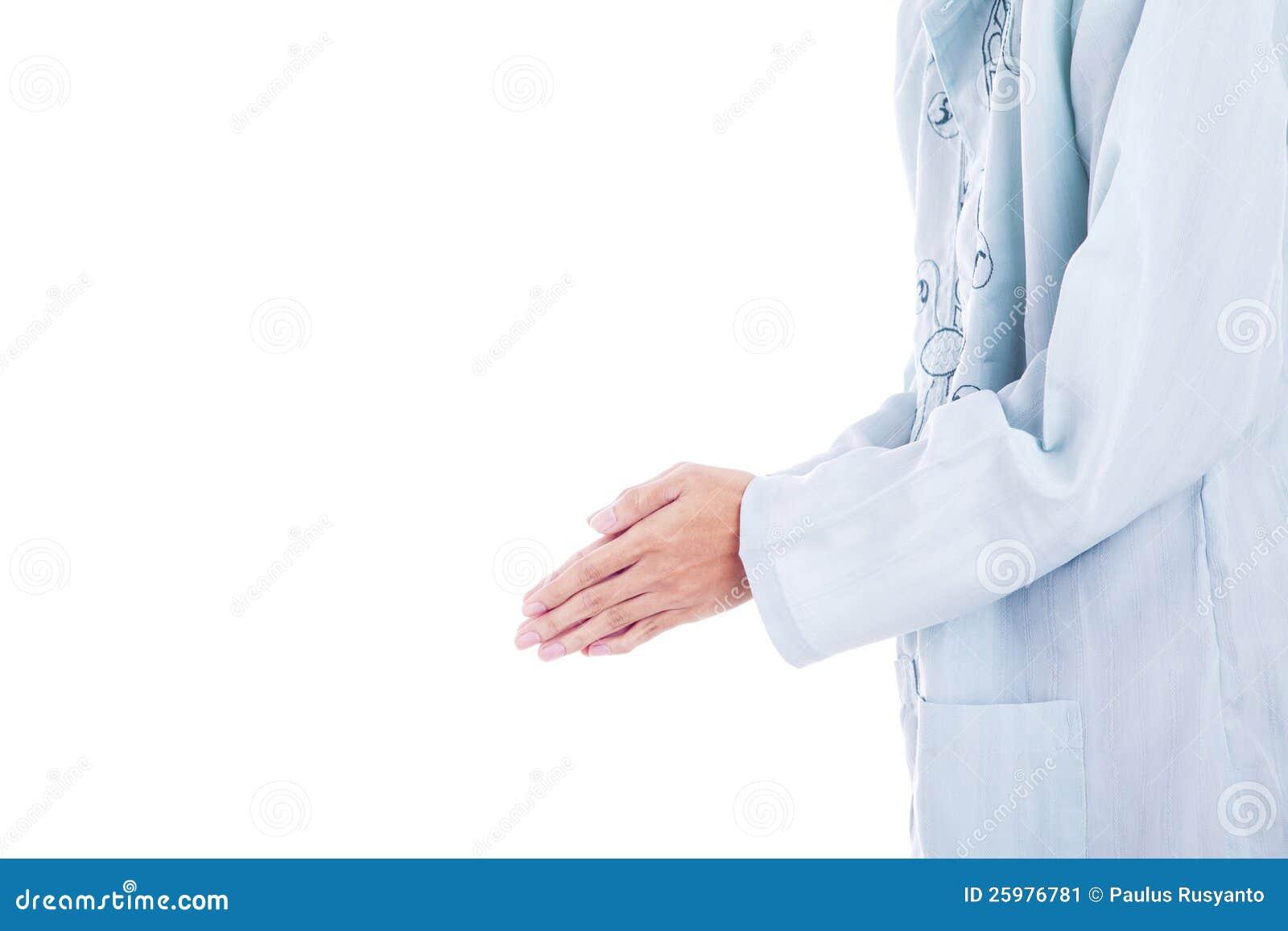 Forgiving hand gesture