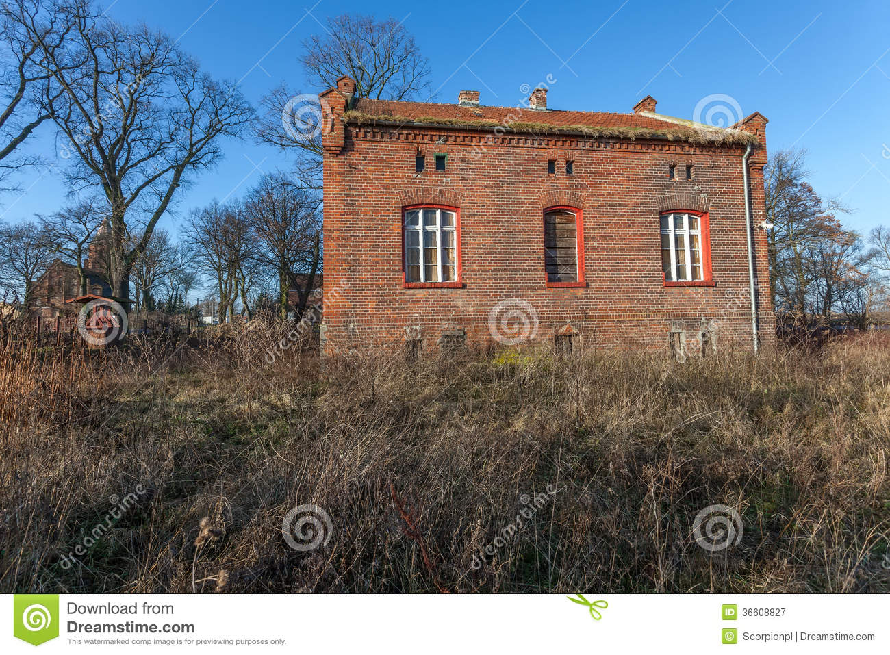 Forgotten Abandoned Old House Royalty Free Stock