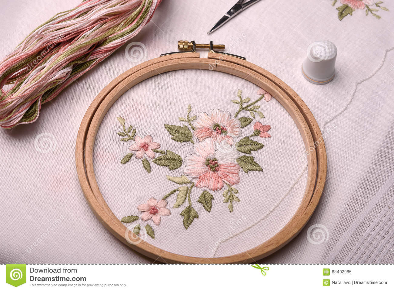 Forgotten Craft Embroidery The Cloth Thread Needle Thimble