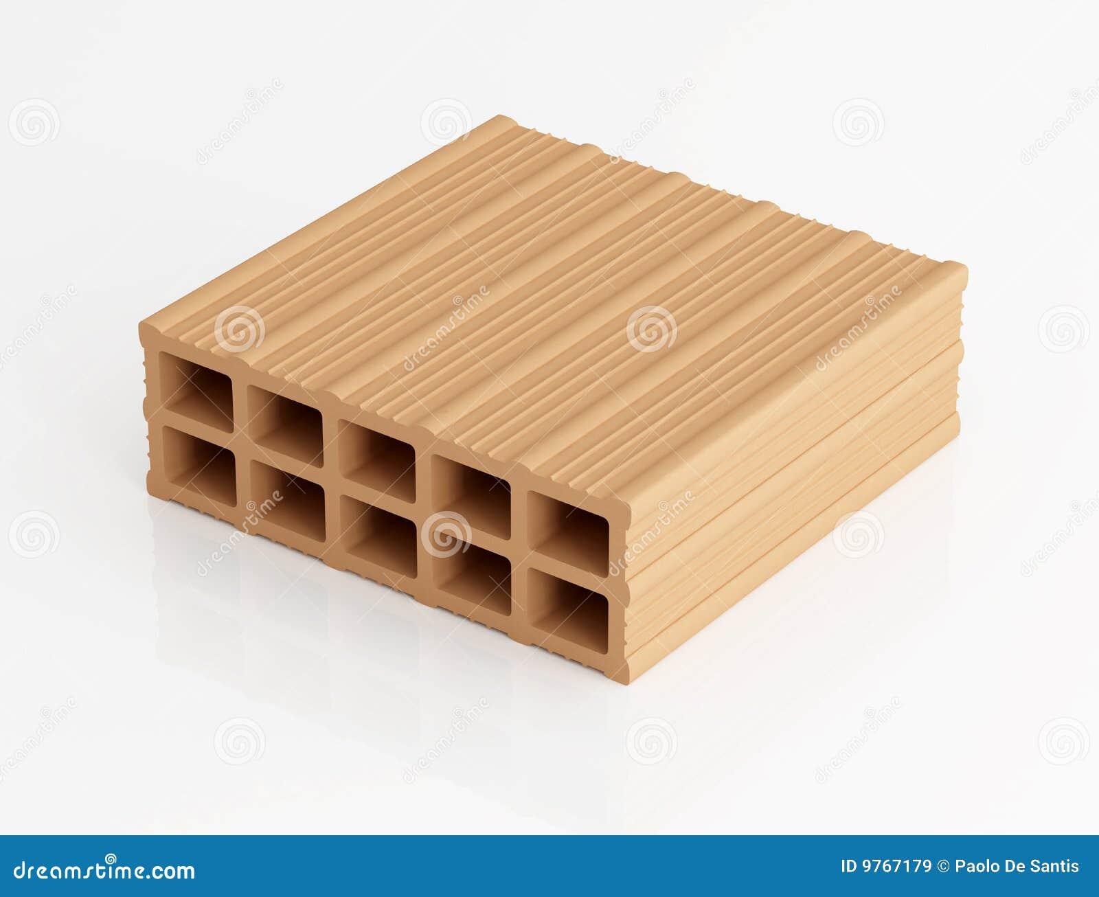 Fori del mattone dieci immagine stock immagine di pietra for Costo del mattone da costruire