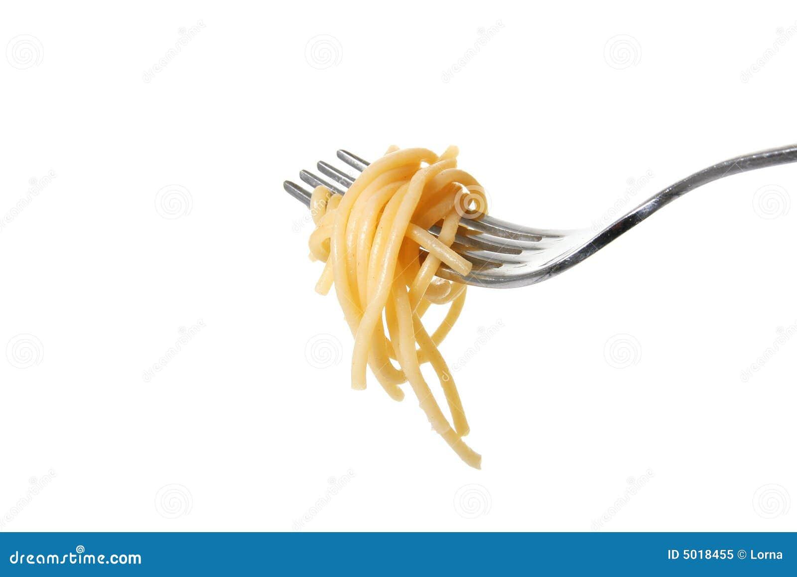 Fork de las pastas aislada