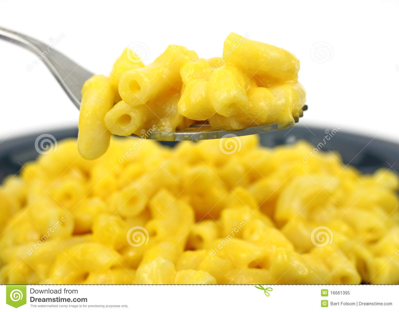 Macaroni And Cheese On A Fork Royalty Free Stock Photography ...