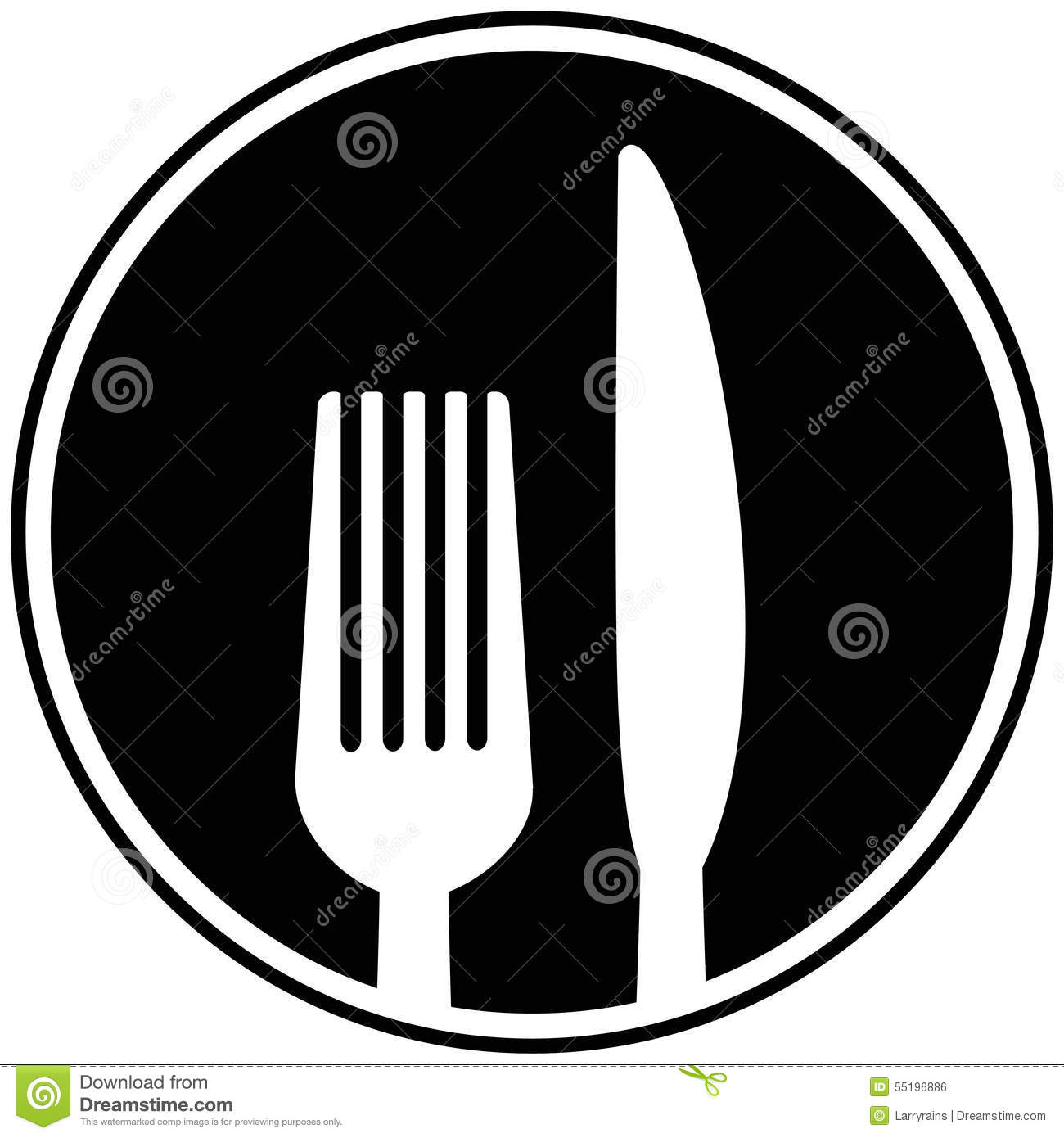 Fork And Knife Symbol Stock Vector Illustration Of Eating 55196886