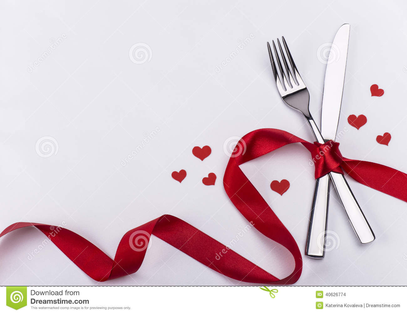 Fork And Knife For Wedding Celebration Background Stock Photo - Image: 40626774