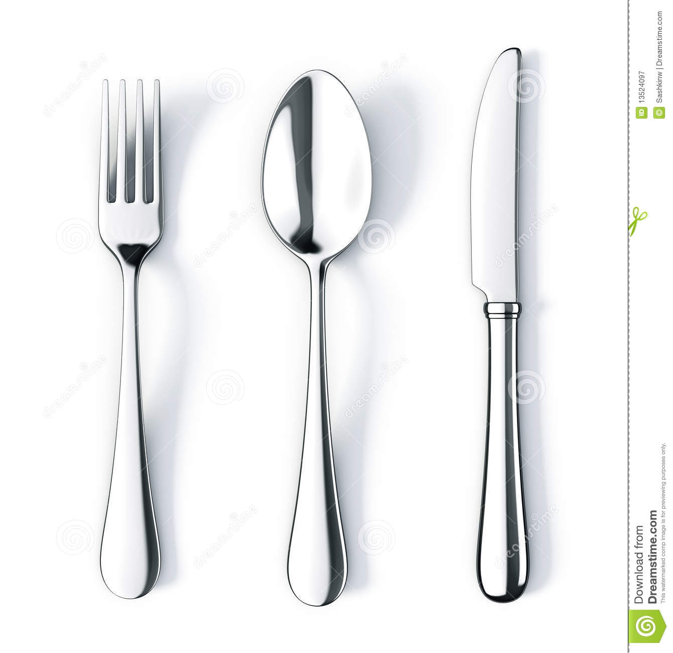 Sketch Floor Plans Fork Spoon And Knife Royalty Free Stock Photography