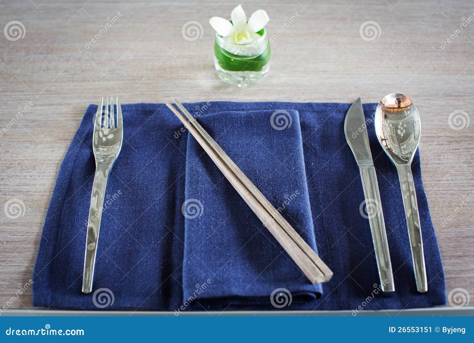 Fork Spoon Knife And Chopsticks Stock Image Image  : fork spoon knife chopsticks 26553151 from dreamstime.com size 1300 x 957 jpeg 184kB