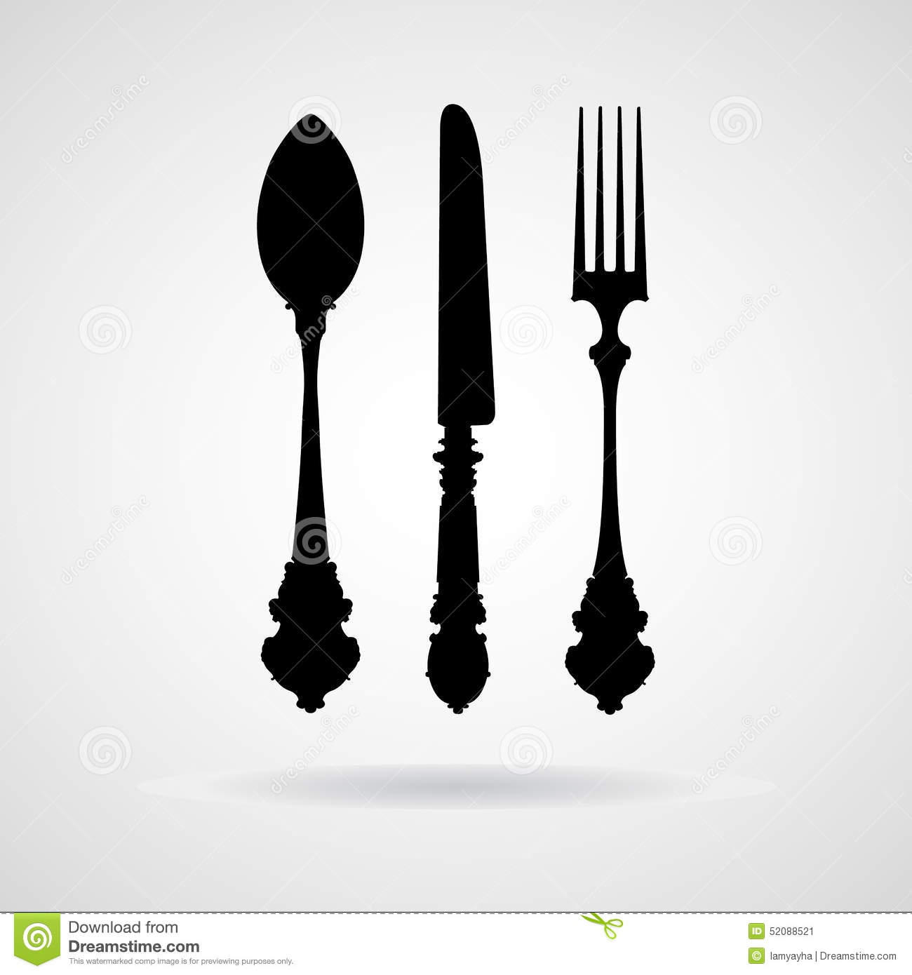 Fork Spoon Knife Vector And Icon EPS10 Stock Vector  : fork spoon knife vector icon eps great any use 52088521 from dreamstime.com size 1300 x 1390 jpeg 66kB