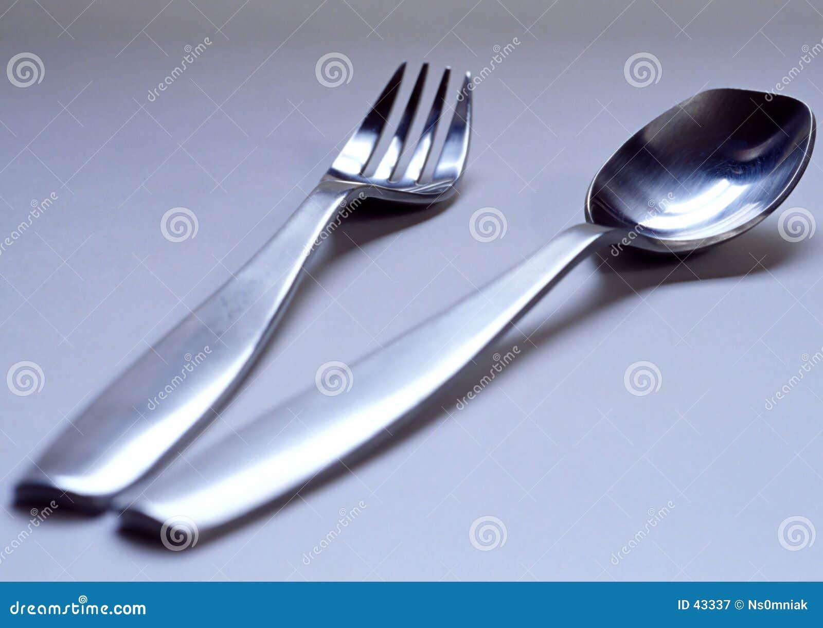 Download Fork y cuchara imagen de archivo. Imagen de prepárese, restaurante - 43337