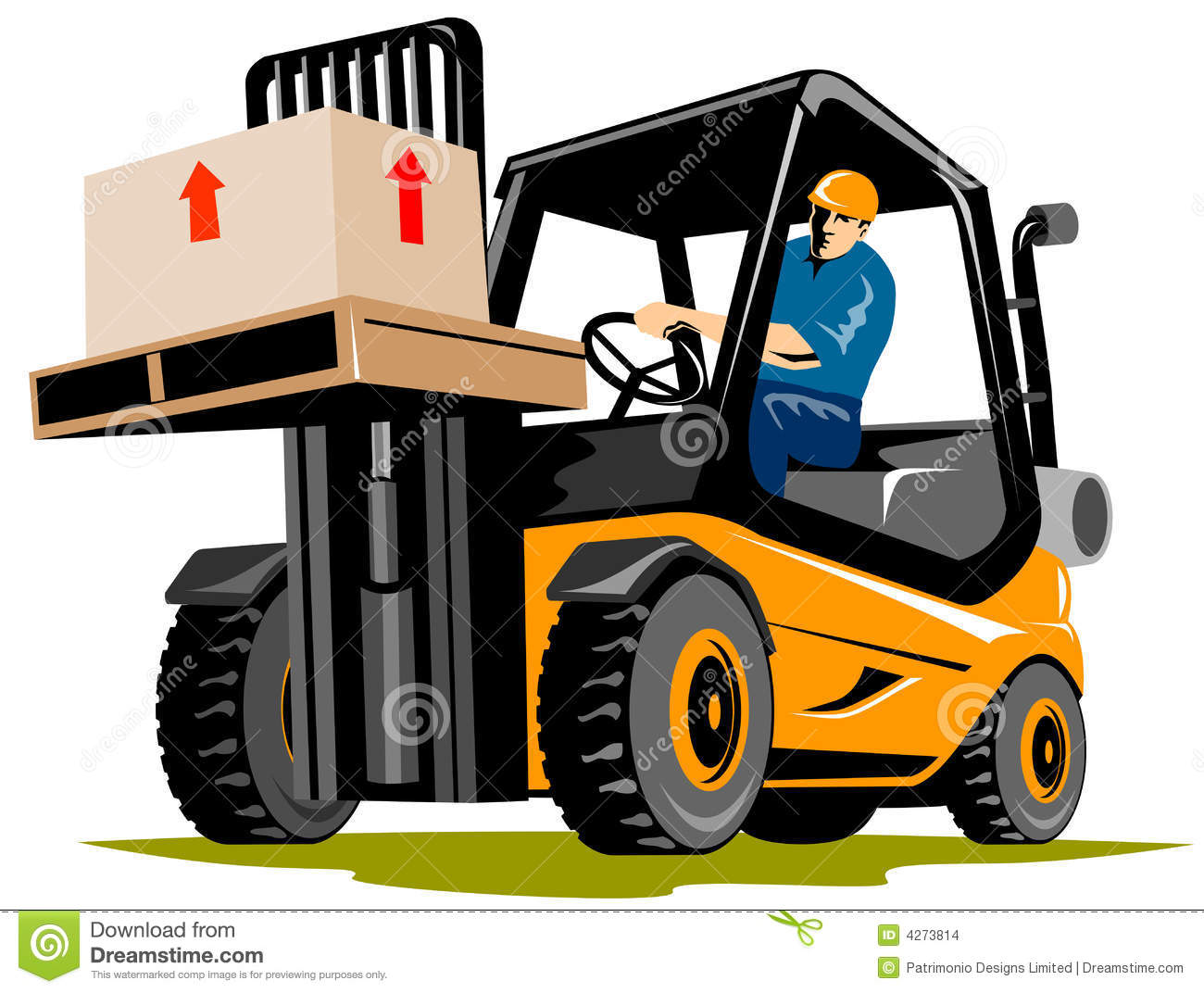 Forklift With Driver Stock Images - Image: 4273814